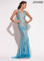 Jovani 92001 Formal Dress with Tulle Overlay image