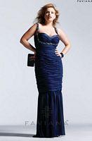 Faviana Plus 9251 Chiffon Mermaid Dress image