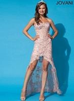 Jovani 92545 Lace High Low Party Dress image