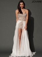 Jovani 92603 Romper with Sheer Overlay image