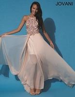 Jovani 92605 Halter Formal Dress image
