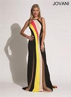 Jovani 92641 Plunging Back Formal Dress image