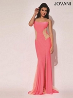 Jovani 92646 Sleeveless Jersey Formal Dress image