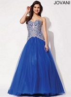 Jovani 92663 A-Line Tulle Ball Gown image