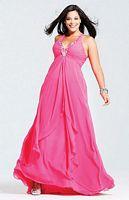 Plus Size Prom Dresses 2012 Faviana Chiffon Dress 9273 image