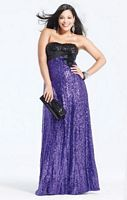 Faviana Plus Size Two Tone Sequin Prom Dress 9275 image