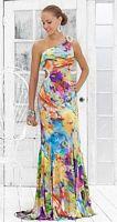 Blush Jersey Print Chunky Stone Prom Dress with Cutout 9303 image