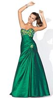 Blush Prom Iridescent Taffeta Evening Dress with Stones 9308 image