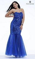 Faviana 9336 Plus Size Sequin Mermaid Dress image