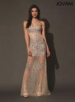 Jovani 93472 Gown with Sheer Panels image