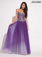 Jovani 938 Formal Dress with Sheer Lace image