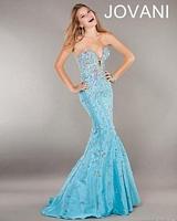Jovani 944 Taffeta Mermaid Evening Dress image