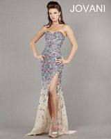 Jovani 946 Strapless Beaded Evening Gown image
