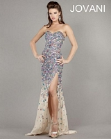 Jovani 946 Colorful Beaded Evening Dress image