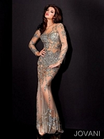 Jovani 9503 Ultra Sexy Long Sleeve Gown image