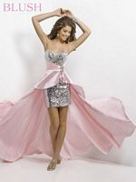 Blush 9508 High Low Cascade Party Dress image