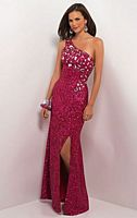 Size 4 Fuchsia Blush by Alexia Sexy One Shoulder Evening Dress 9534 image