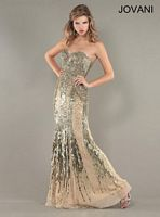 Jovani Strapless Beaded Evening Gown 9540 image