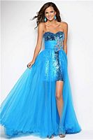 Size 2 Caribbean Blue Blush by Alexia Sexy and Sheer Formal Dress 9544 image