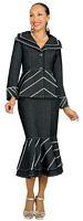 Devine Denim 95582 Womens Denim Suit with Silver Metallic Straps image