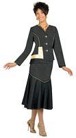 Devine Denim 95692 Womens Suits with Faux Leather Trim image