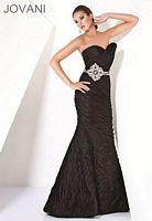 Jovani Tiered Mermaid Black Evening Dress 9577 image