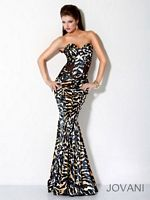 Jovani Mermaid Print Evening Dress 9623 image
