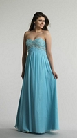 Size 6 Ice Blue Dave and Johnny 9660 Beaded Empire Formal Dress image