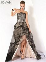 Jovani Black Nude Corset Evening Dress 9706 image