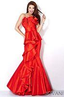 Jovani Origami Pleated Mermaid Prom Dress 9707 image