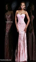 Sherri Hill 9707 Lace Illusion Formal Dress image