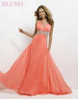 Blush 9708 Oversize Jewels Evening Dress image