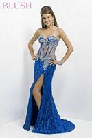 Blush 9716 Sheer Corset Evening Dress image
