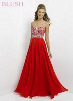 Blush 9720 Sexy V Neck Evening Dress image