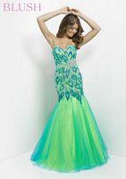 Blush 9722 Floral Leaf Mermaid Dress image
