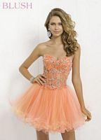Blush 9725 Lace Corset Short Party Dress image