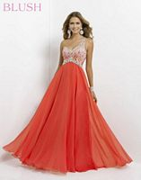 Size 6 Persimmon Blush 9726 One Shoulder Ombre Party Dress image
