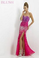 Blush 9736 Ombre Jewel Evening Dress image