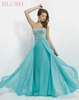 Blush 9764 Chiffon Overlay Evening Dress image