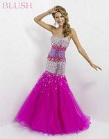 Blush 9786 Colorful Stone Mermaid Dress image