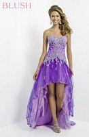 Blush 9787 Floral Lace High Low Dress image