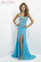 Blush 9796 Shiny Sequin Evening Dress image