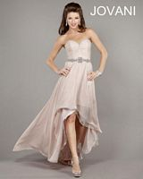 Jovani 999 High Low Beaded Party Dress image