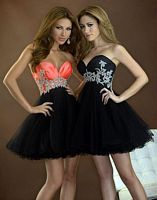 Evenings by Allure Crystal Short Ball Gown Prom Dress A360 image