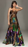 Colorful Animal Print Evening Dress Evenings by Allure A422 image