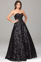 Evenings by Allure Beaded Sequin Prom Dress A501 image