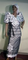 Nubian African Inspired Ladies 3pc Skirt Set image