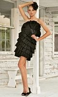 Stunning Beaded Flower Homecoming Dress Black by Blush C041 image