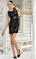 Black by Blush Beaded Tank Dress for Homecoming C042 image