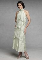 Capri by Mon Cheri Sage Green Burnout Evening Dress CP11131-6 image